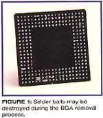 图一、BGA取下过程中锡球可能被损坏