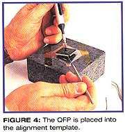 图四、QFP放入调整模板内